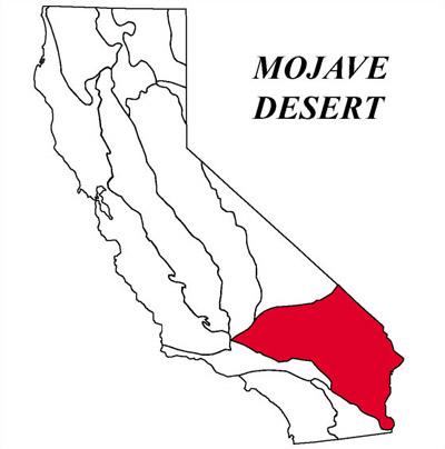 Mojave Desert In California Map.Mojave Desert Geomorphic Province