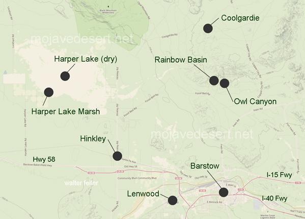 Harper Dry Lake Hinkley California Barstow Region