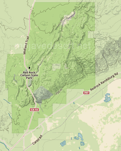 Map Of California State Parks.Red Rock Canyon California State Park