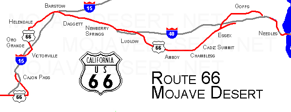 Mojave Desert Route 66 – Travel Route 66 Map