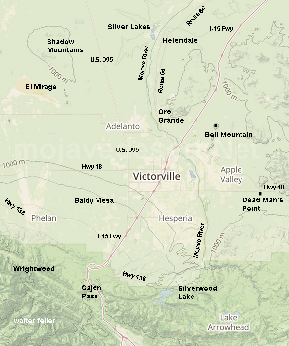 Victor Valley Map on