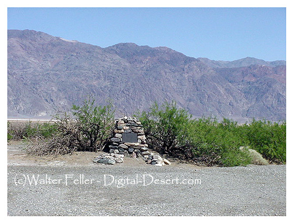 Shorty Harris' grave in Death Valley